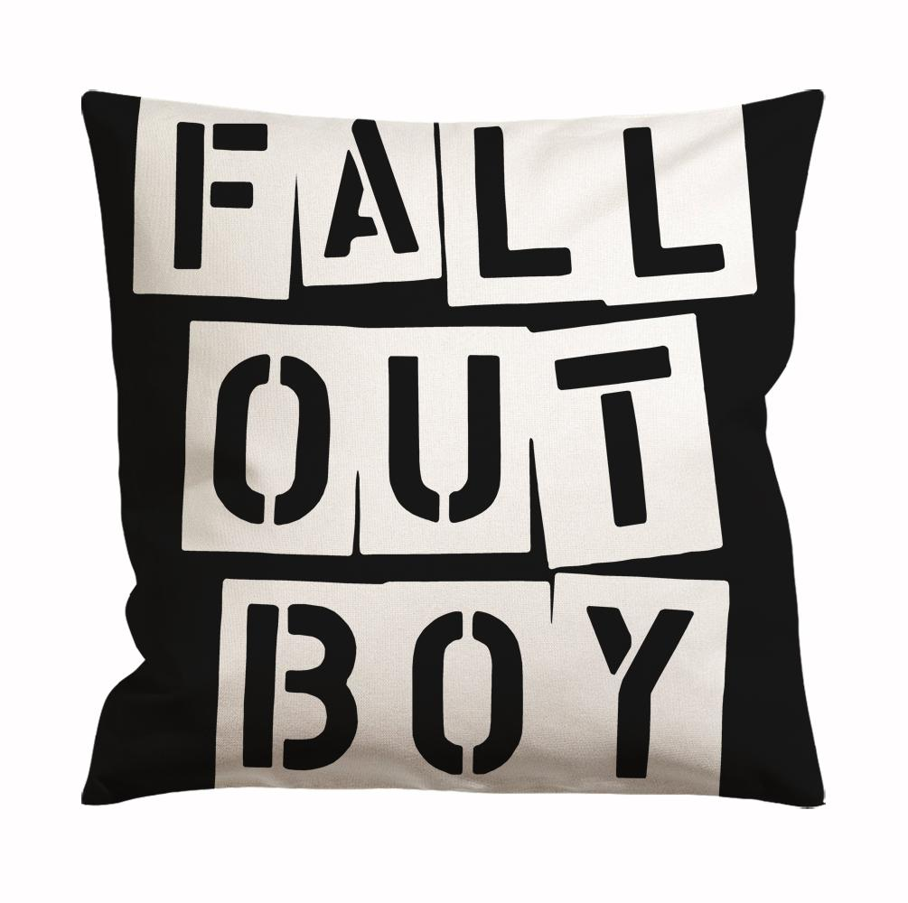 Fall Out Boy Logo Black Cushion Case / Pillow Case