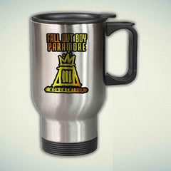 Gold Fall Out Boy and Paramore Tour 14oz Stainless Steel Travel Mug