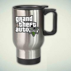 Grand Theft Auto 5 14oz Stainless Steel Travel Mug