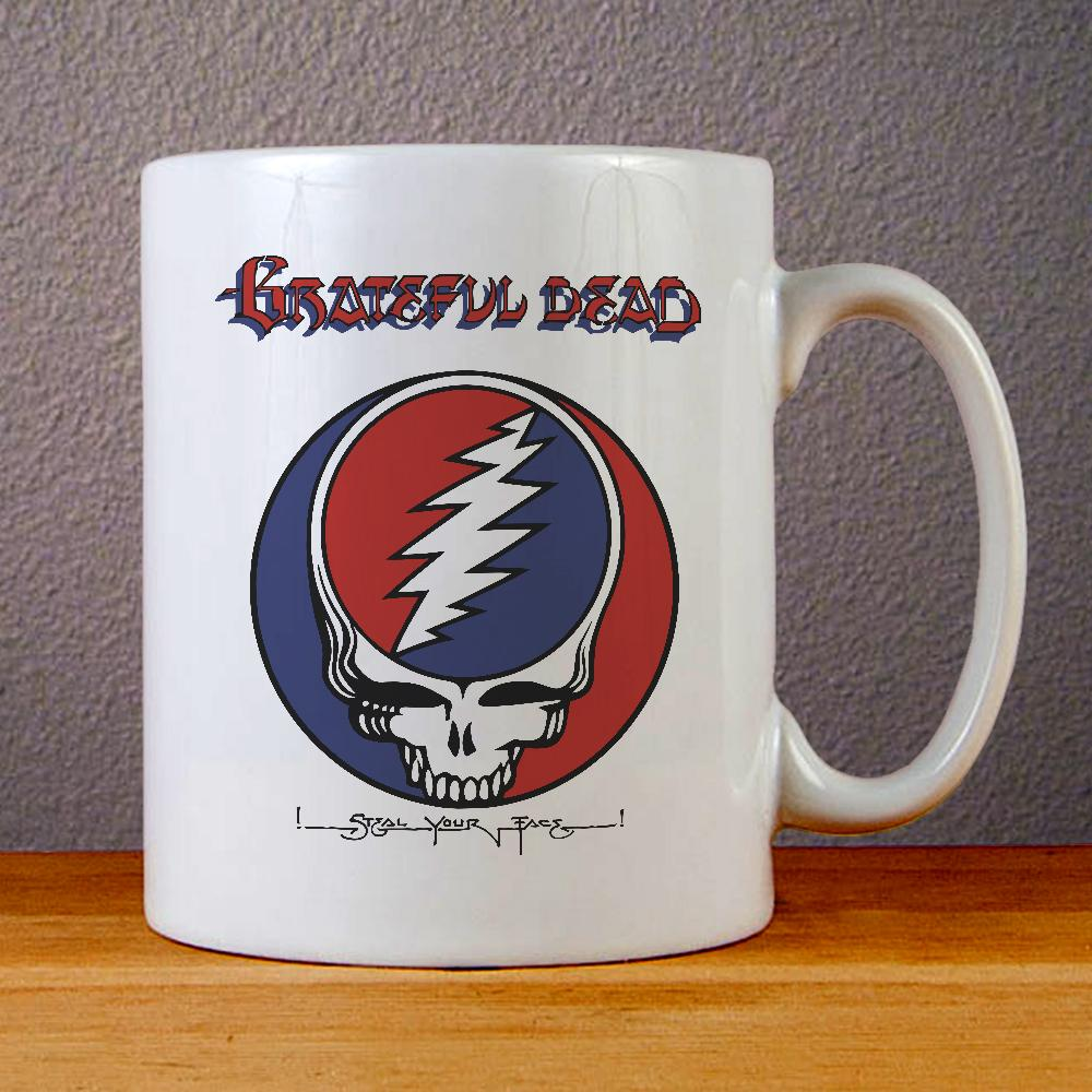 Grateful Dead Steal Your Face Ceramic Coffee Mugs