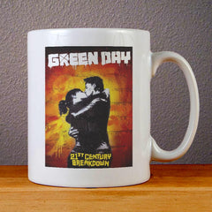 Green Day 21st Century Breakdown Cover Ceramic Coffee Mugs