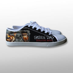 Green Day Revolution Radio Canvas Shoes
