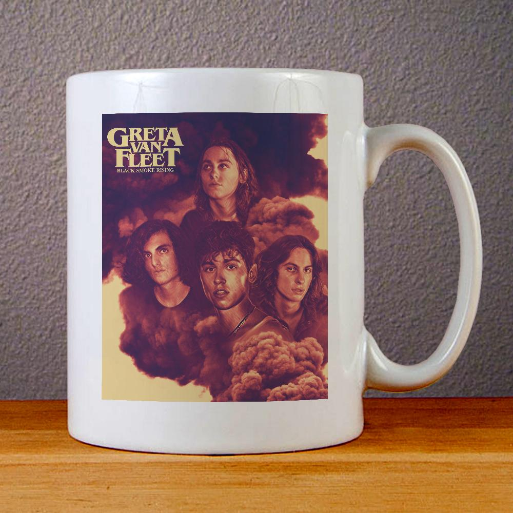Greta Van Fleet Black Smoke Rising Ceramic Coffee Mugs