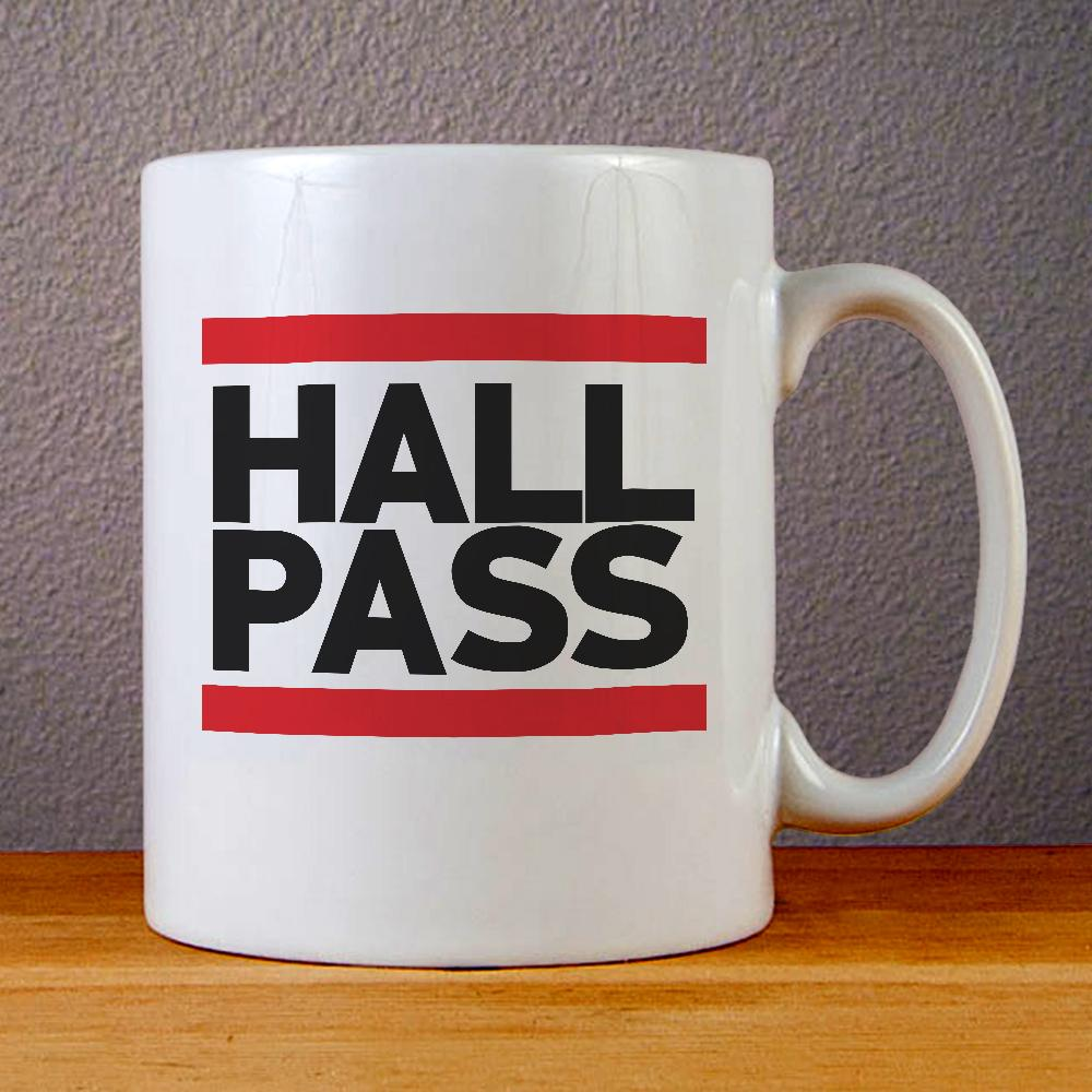 Hall Pass Logo Ceramic Coffee Mugs