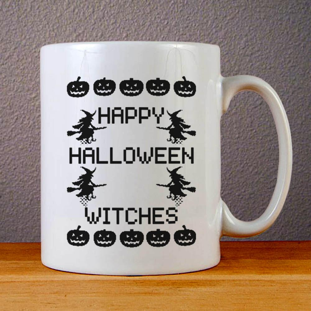 Happy Halloween Witches Ceramic Coffee Mugs