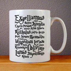Harry Potter Magic Spells Ceramic Coffee Mugs