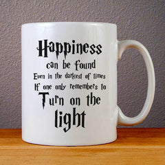 Harry Potter Quotes Happiness Can be Found Even in The Darkest of Times If One Remembers Ceramic Coffee Mugs