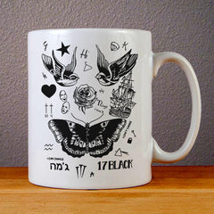 Harry Styles Tattoo Ceramic Coffee Mugs