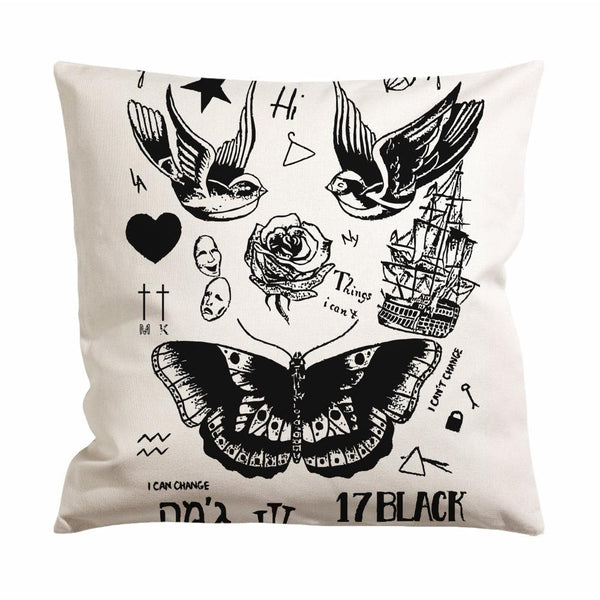 Harry Styles Tattoo Cushion Case / Pillow Case