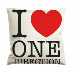 I Love One Direction Cushion Case / Pillow Case