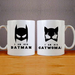 I am Her Batman Mug Couples Mug Set Wedding Mug Couples Gift Set