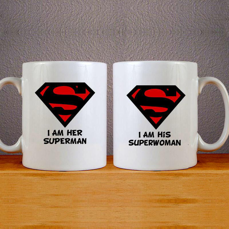 I am Her Superman Mug Couples Mug Set Wedding Mug Couples Gift Set