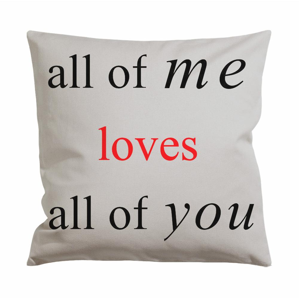 John Legend Lyrics Cushion Case / Pillow Case