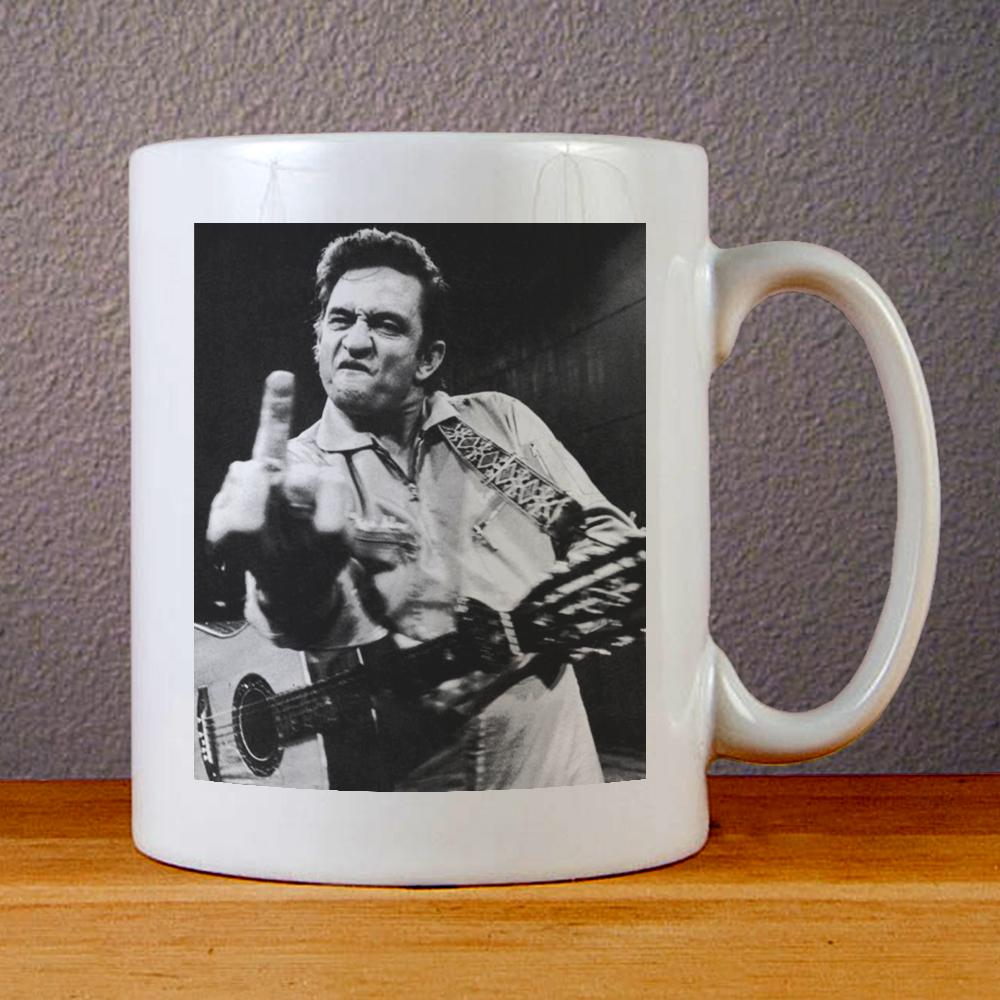 Johnny Cash Ceramic Coffee Mugs