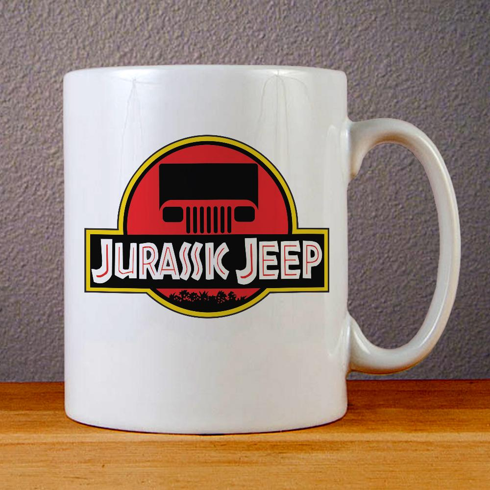 Jurassic Jeep Logo Ceramic Coffee Mugs