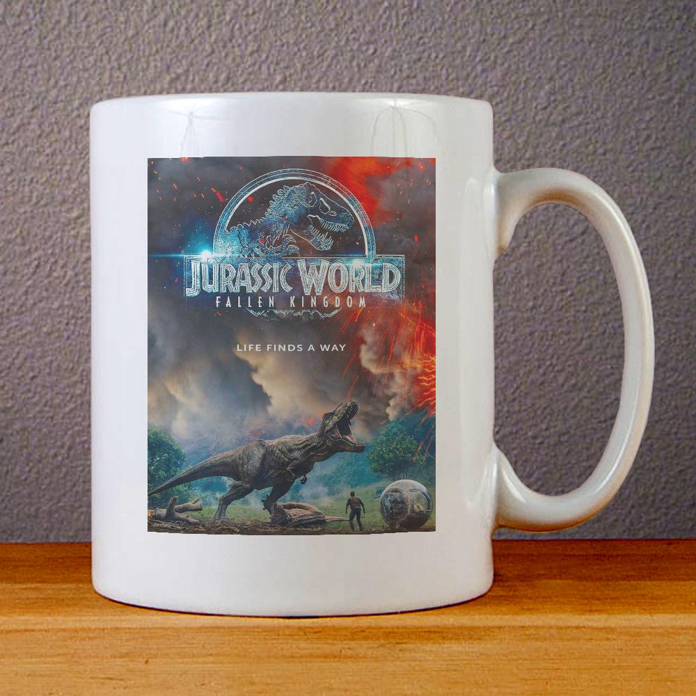 Jurassic World Fallen Kingdom Poster Ceramic Coffee Mugs