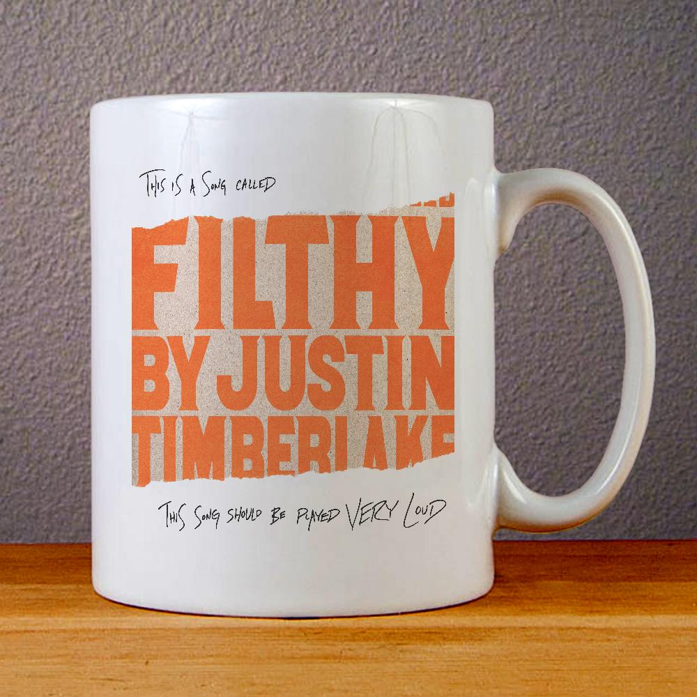 Justin Timberlake Filthy Cover Ceramic Coffee Mugs