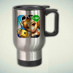 LINE Let's Get Rich 14oz Stainless Steel Travel Mug