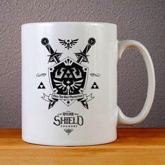 Legend of Zelda Letterpressed Hylian Shield Ceramic Coffee Mugs