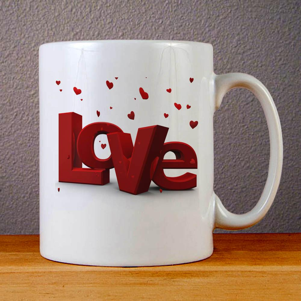 Love Ceramic Coffee Mugs