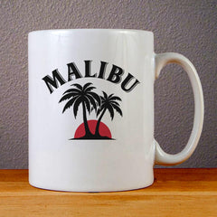 Malibu Logo Ceramic Coffee Mugs