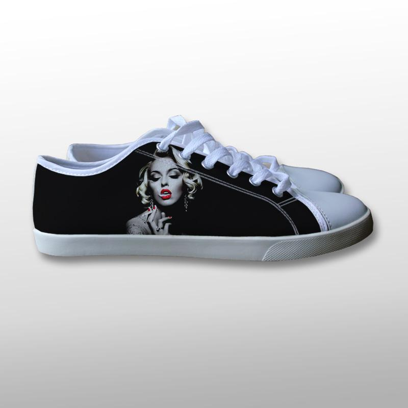Marilyn Monroe Smoking Canvas Shoes