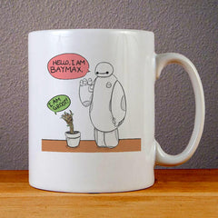 Marvel Character Baymax and Groot Ceramic Coffee Mugs
