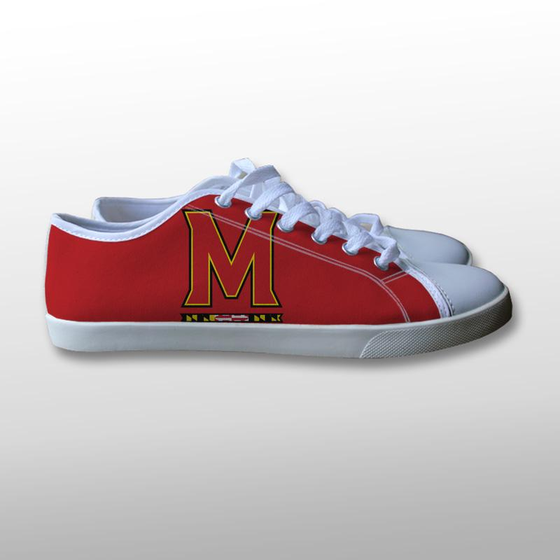 Maryland Terrapins Logo Canvas Shoes