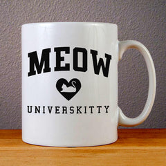 Meow Universkitty Cat Ceramic Coffee Mugs