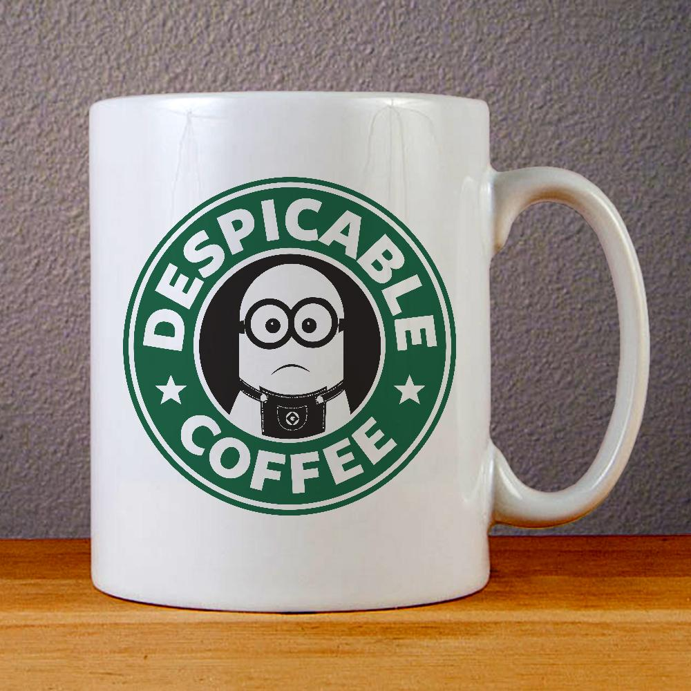 Minion Starbuck Coffee Logo Ceramic Coffee Mugs
