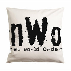 Nwo New World Order White Cushion Case / Pillow Case