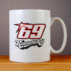 Nicky Hayden Kentucky Kid Logo Ceramic Coffee Mugs