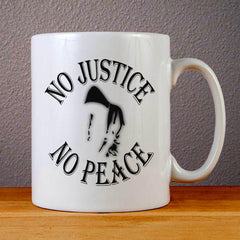 No Justice No Peace Logo Ceramic Coffee Mugs