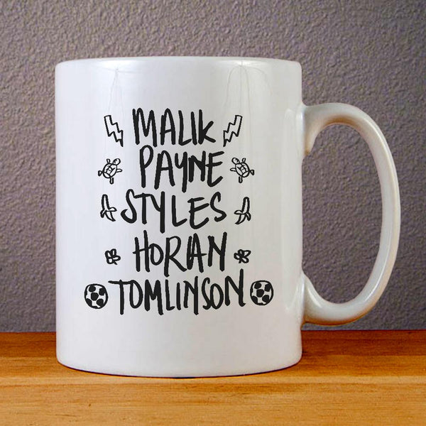 One Direction Names Ceramic Coffee Mugs