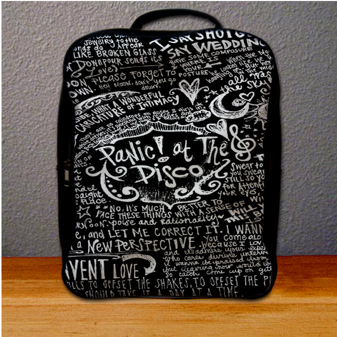 Panic At The Disco Lyric Quotes Backpack For Student Giftmug