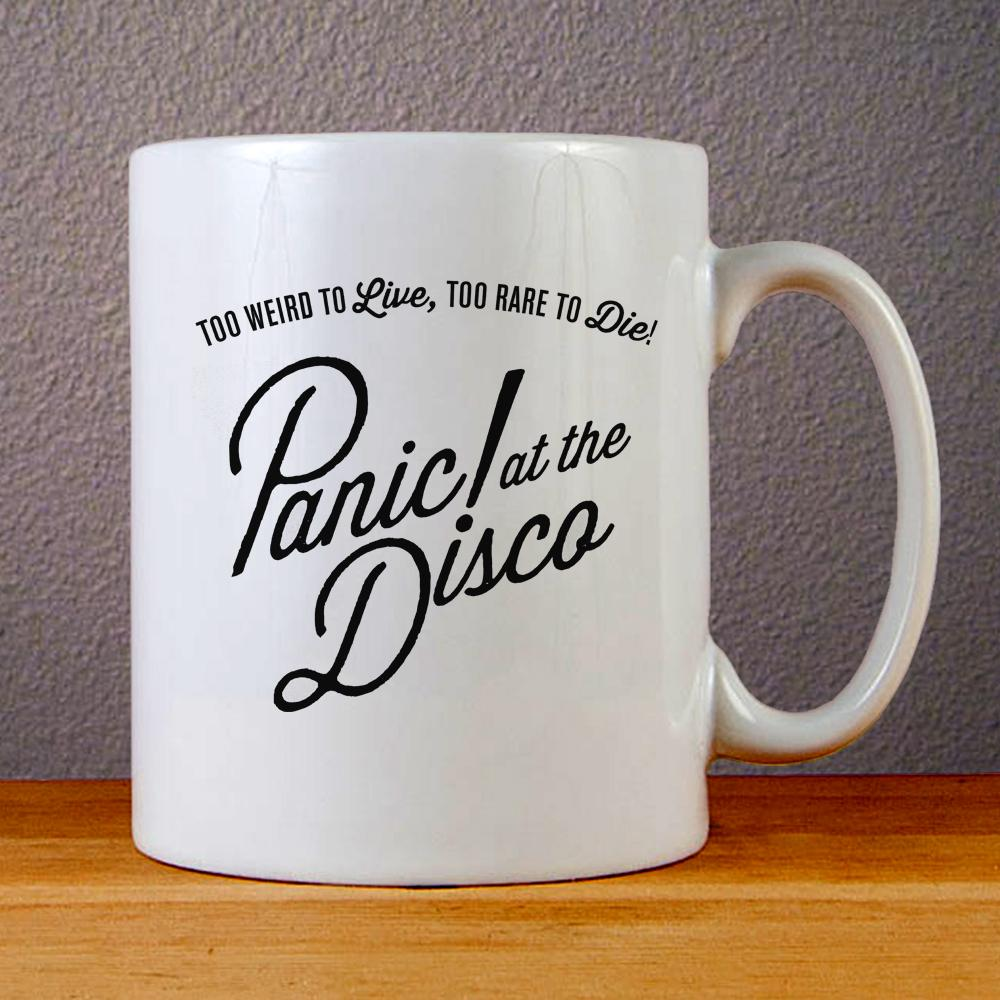 Panic at The Disco Too Weird to Live Too Rare to Die Ceramic Coffee Mugs