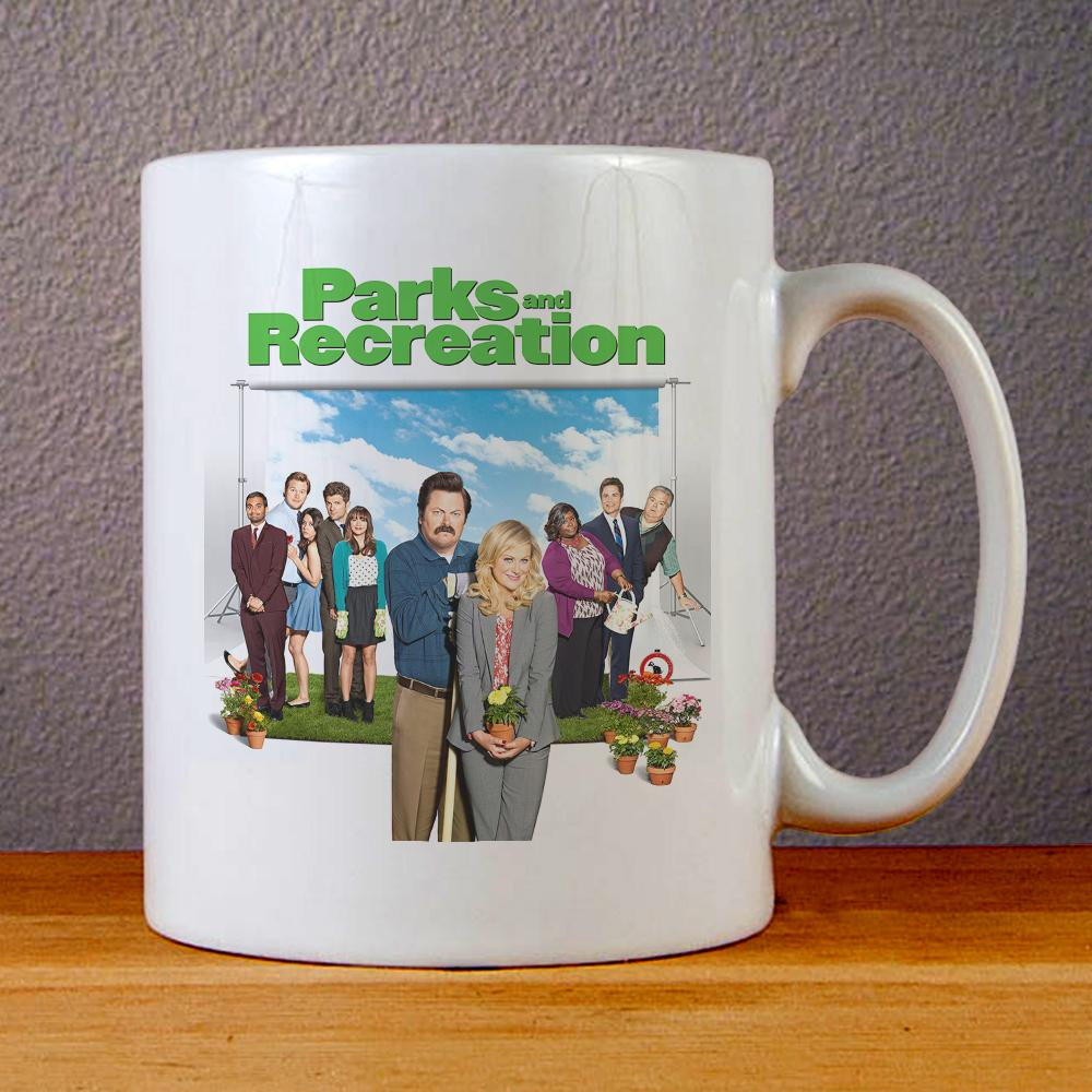 Parks and Recreation Poster Ceramic Coffee Mugs