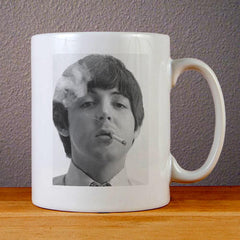 Paul McCartney Smoking Ceramic Coffee Mugs