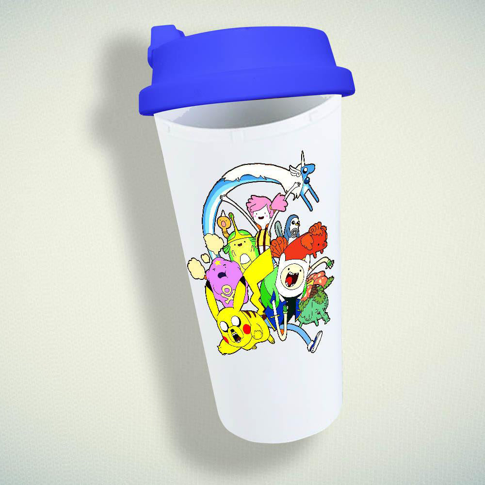 Pokemon Adventure Time Parody Double Wall Plastic Mug