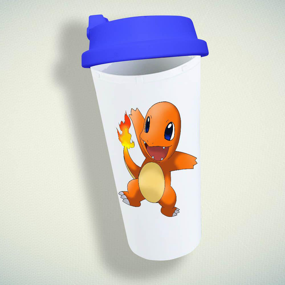 Pokemon Charmander Charizard Pikachu Double Wall Plastic Mug