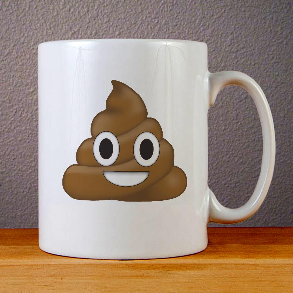 Poo Poop Emoji Ceramic Coffee Mugs