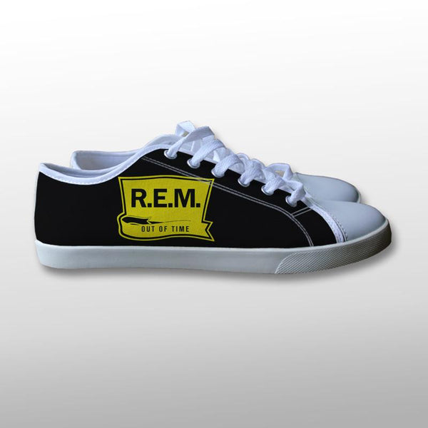 REM Out of Time Alternative Rock Band Canvas Shoes