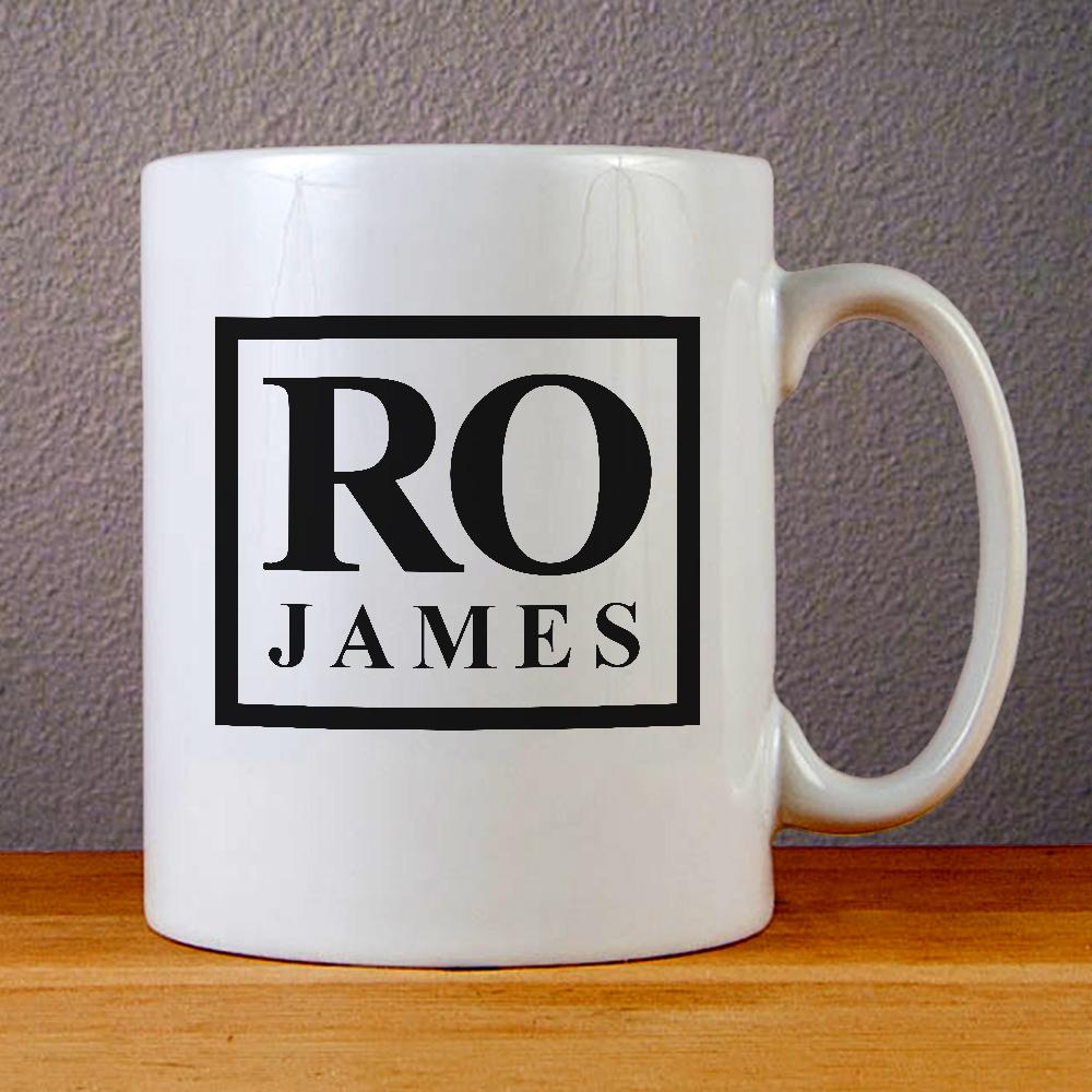 Ro James Logo Ceramic Coffee Mugs