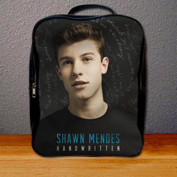 Shawn Mendes Handwritten Backpack for Student