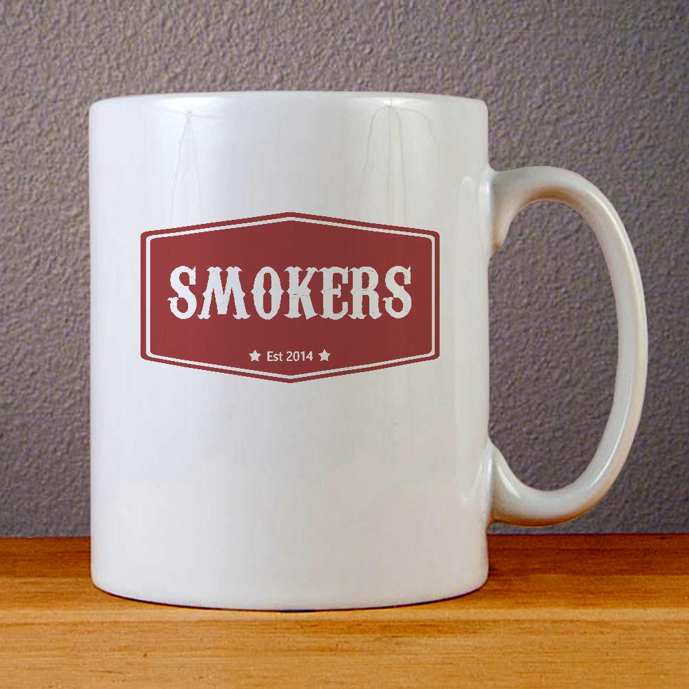 Smokers Ceramic Coffee Mugs