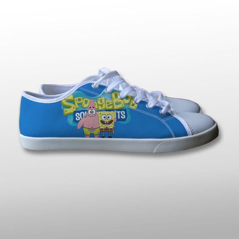 Spongebob Squarepants and Patrick Canvas Shoes