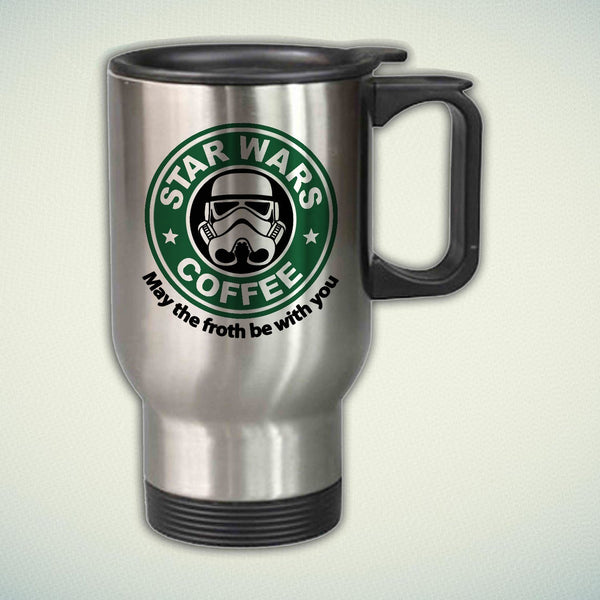 Star Wars Coffee Logo 14oz Stainless Steel Travel Mug