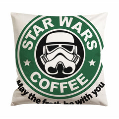 Star Wars Coffee Cushion Case / Pillow Case