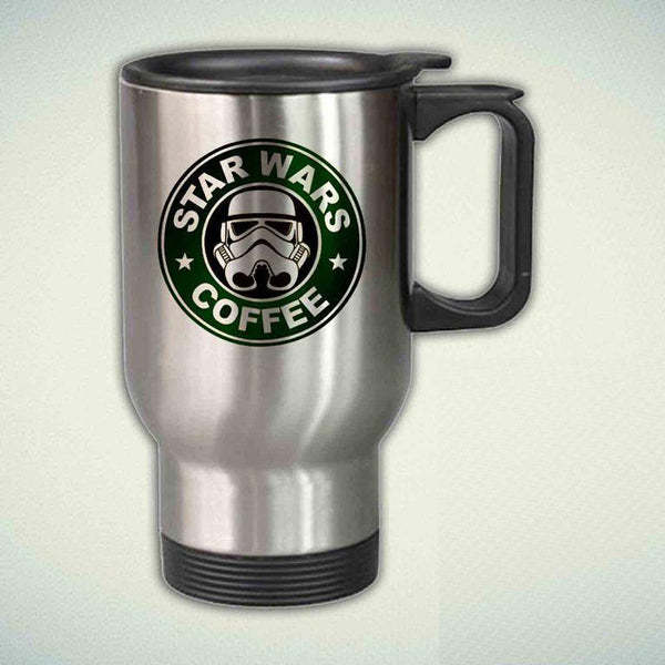 Star Wars Coffee Starbucks Funny 14oz Stainless Steel Travel Mug