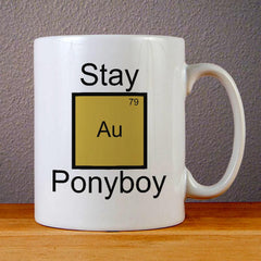 Stay Gold Ponyboy Element Pun Ceramic Coffee Mugs
